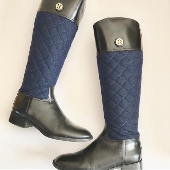 e3537da54b23a8 ❤️Tory Burch❤️Classic LeatherFlannel Riding Boots.  M 5a9745dc50687c698737d6fd
